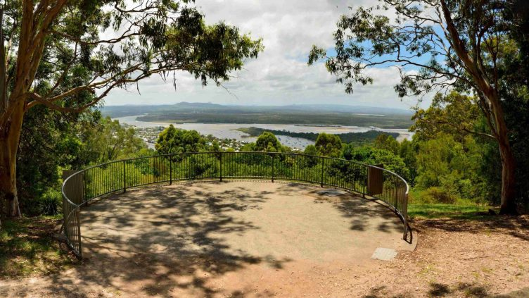 Views at the end of a trail in Noosa National Park Queensland Australia