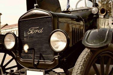Old Ford Car - People Walked Then