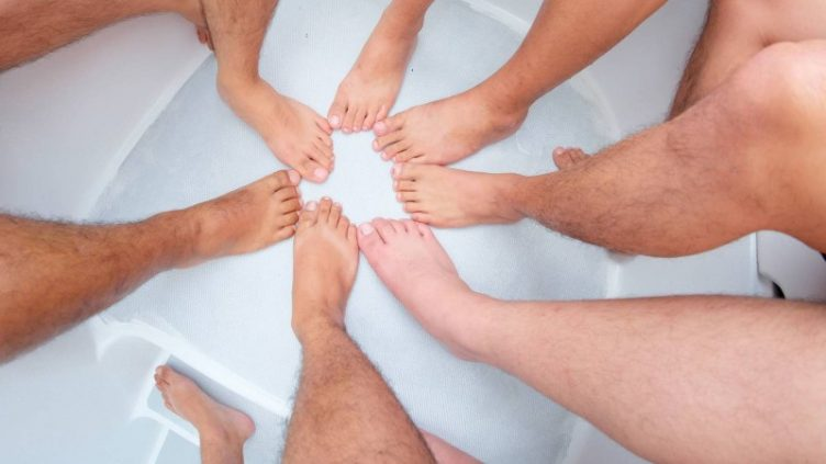 Naked Feet Showing Different Foot Shapes